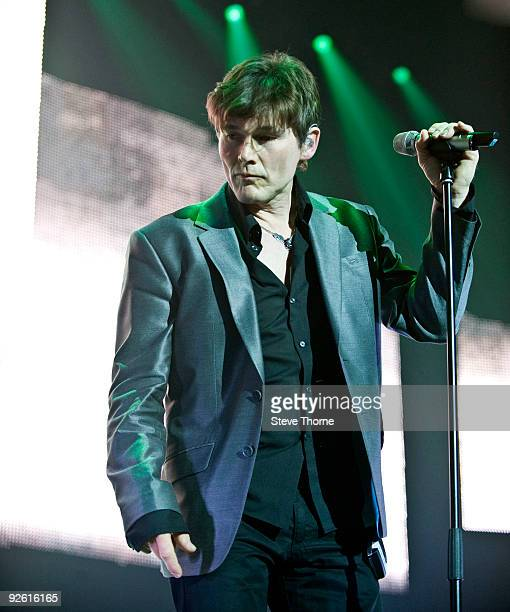 Morten Harket of aha performs on stage at the NIA Arena on November 2 2009 in Birmingham England