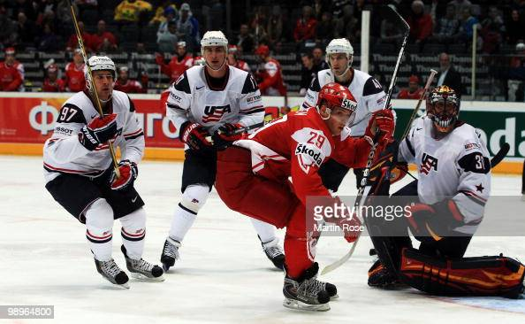 Morten Madsen of Denmark skates during the IIHF World Championship group A match between USA and Denmark at Lanxess Arena on May 10 2010 in Cologne...