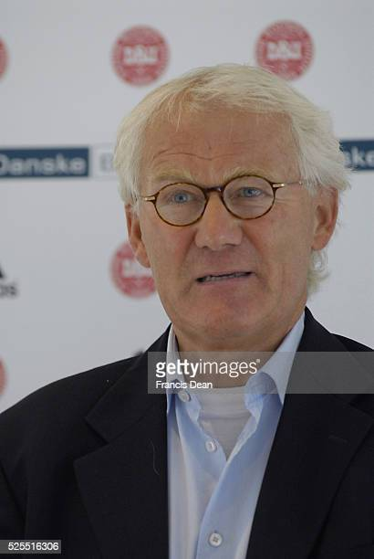 Morten Olsen hold pressconference danish national coach light danish football team and football player and gave list of player will play match again...