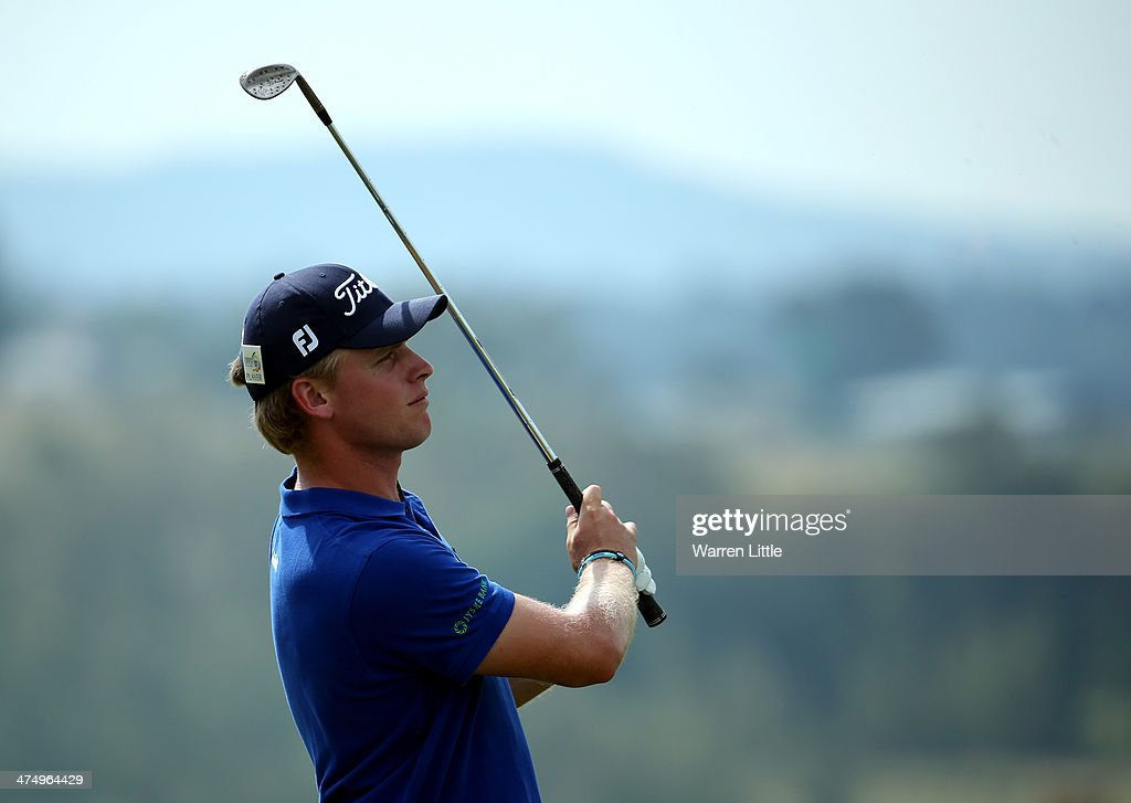 Morten Orum Madsen of Denmark in action during a practice round ahead of the Tshwane Open at Copperleaf Golf & Country Estate on February 26, 2014 in Centurion, South Africa.