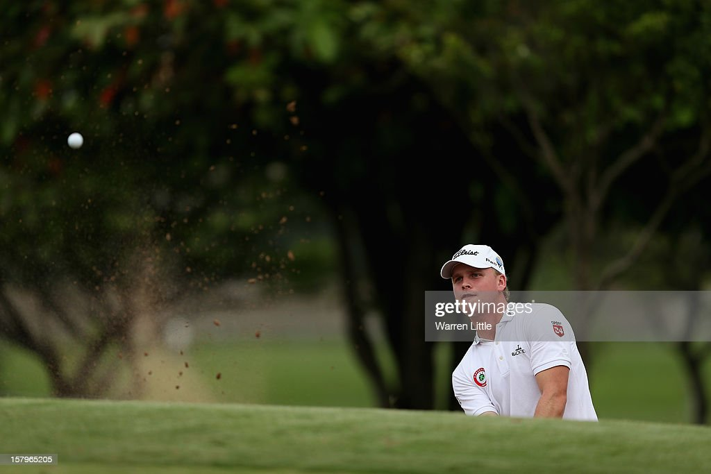 Morten Orum Madsen of Denmark in action during the first round of The Nelson Mandela Championship presented by ISPS Handa at Royal Durban Golf Club on December 8, 2012 in Durban, South Africa.