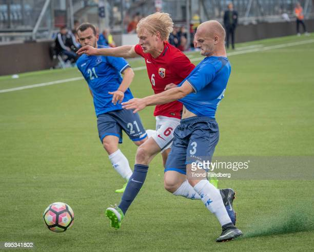 Morten Thorsby of Norway during the Qualifying Round European Under 21 Championship 2019 between Norway v Kosovo at Ullevaal Stadion on June 12 2017...