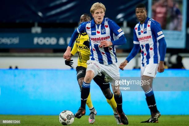 Morten Thorsby of sc Heerenveen during the Dutch Eredivisie match between sc Heerenveen and VVV Venlo at Abe Lenstra Stadium on December 09 2017 in...