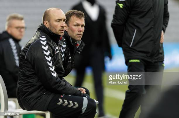 Morten Wieghorst head coach of AaB during the Danish Alka Superliga match between AGF Aarhus and AaB Aalborg at Ceres Park on February 19 2017 in...