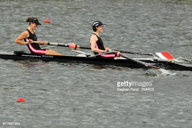 Mortlake Anglian and Alpha's Sarah Cornick and Alexa Szladowska during the Women's Lightweight Coxless pair final on day three of the British Rowing...