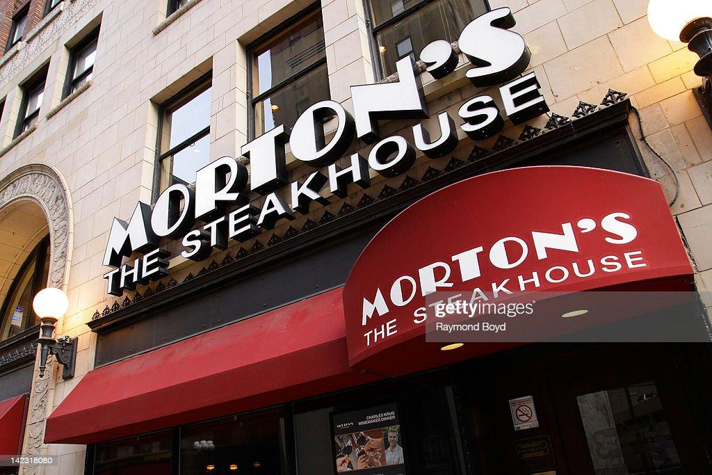 Morton's Steakhouse restaurant in Chicago Illinois on MARCH 25 2011