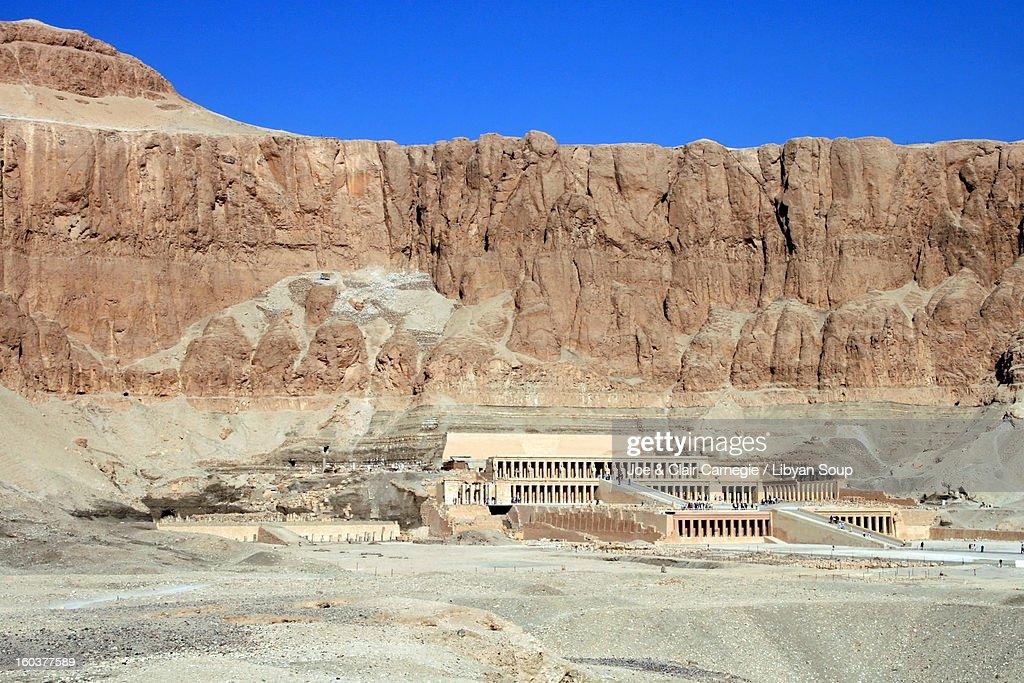 Mortuary Complexes at Deir el-Bahri : Stock Photo