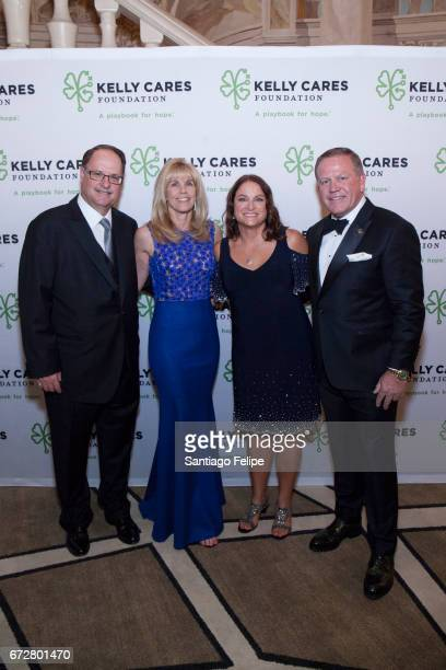 Morty Bouchard Linda Bouchard Paqui and Brian Kelly attend the 2017 Kelly Cares Foundation Irish Eyes Gala at The Pierre Hotel on April 24 2017 in...