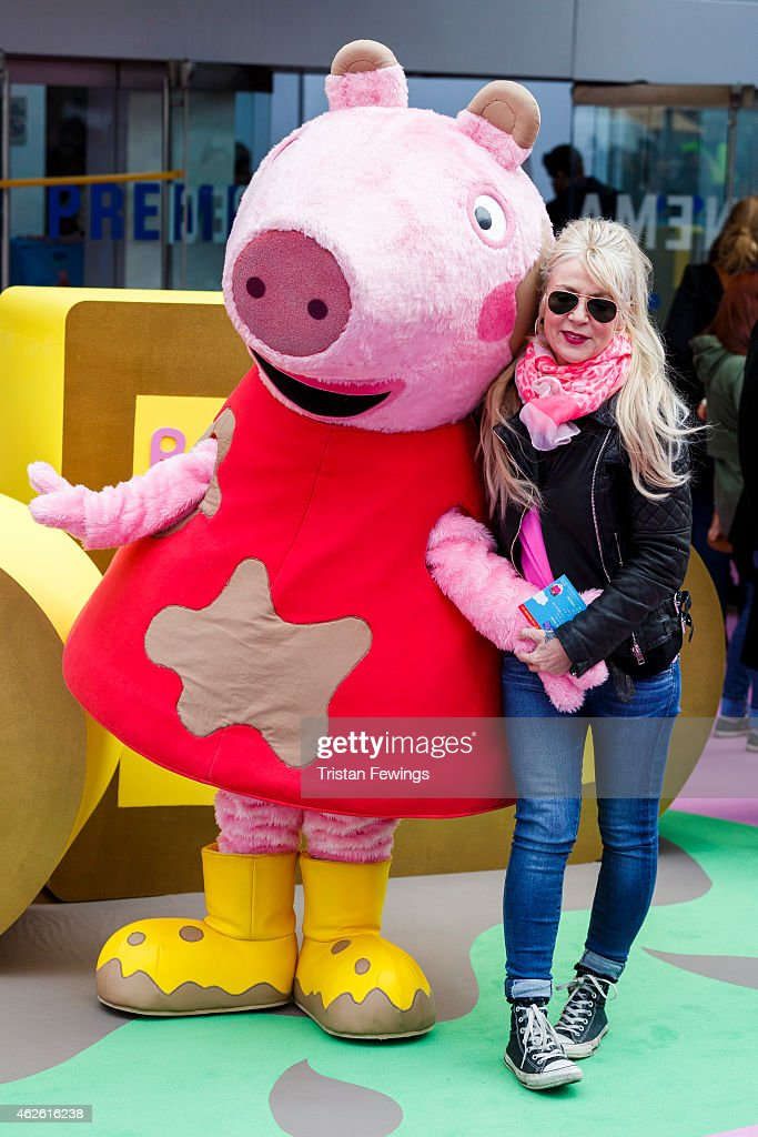 Morwenna Banks attends the premeire of 'Peppa Pig: The Golden Boots' at Odeon Leicester Square on February 1, 2015 in London, England.