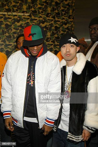 Mos Def and Nigo attend Pharrell Williams Hosts the Store Opening of Nigo's 'A Bathing Ape' at A Bathing Ape Store on January 11 2005 in New York City