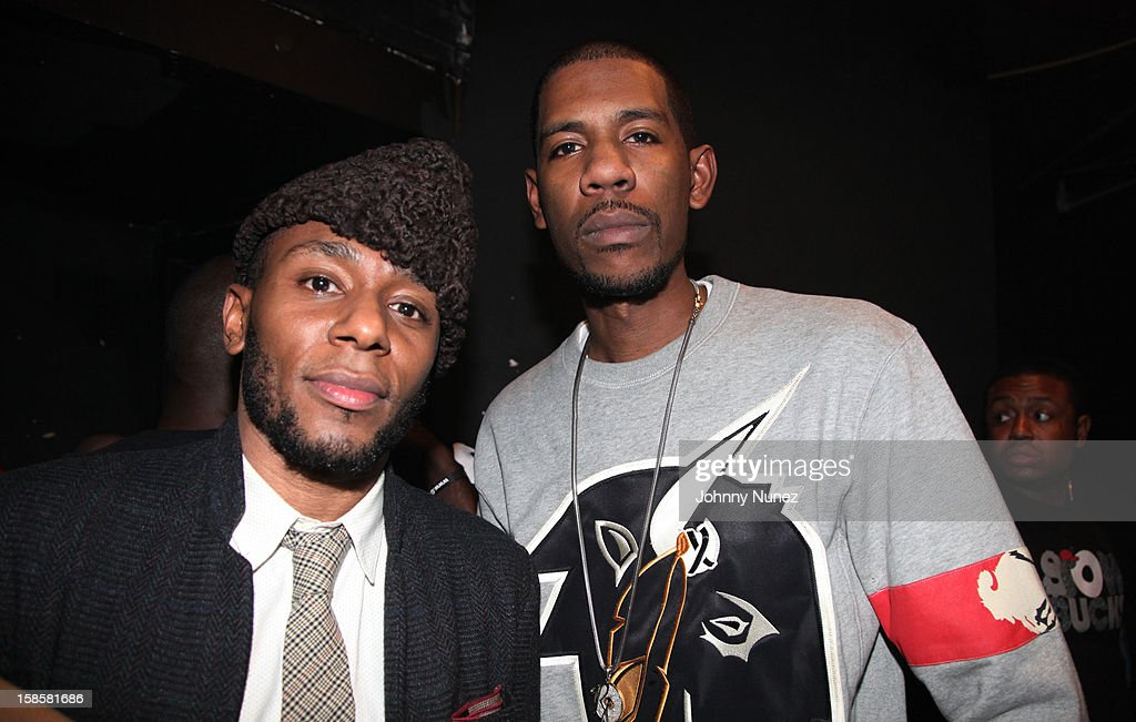 <a gi-track='captionPersonalityLinkClicked' href=/galleries/search?phrase=Mos+Def&family=editorial&specificpeople=206384 ng-click='$event.stopPropagation()'>Mos Def</a> and Young Guru attend the Roc-A-Fella Reunion at Gramercy Theatre on December 19, 2012 in New York City.