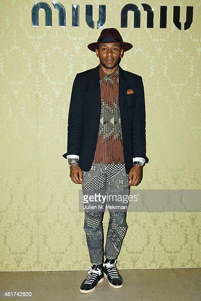 Mos Def attends the Miu Miu Resort Collection 2015 at Palais d'Iena on July 5 2014 in Paris France