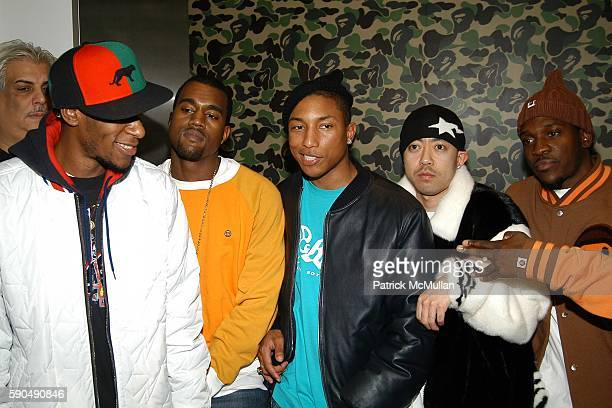 Mos Def Kanye West Pharrell Williams Nigo and Pusher T attend Pharrell Williams Hosts the Store Opening of Nigo's 'A Bathing Ape' at A Bathing Ape...