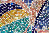 Detail of colorful mosaic tiles