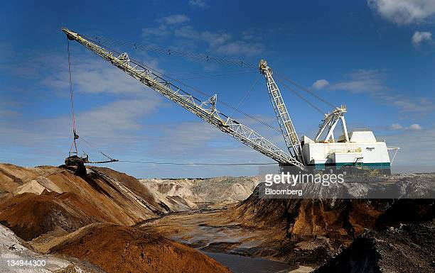 A Mosaic Co dragline carves out phosphate matrix in Tampa Florida US on Friday Dec 2 2011 Mosaic Co is the world's largest producer of phosphate and...
