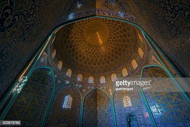 Mosaic decoration in the dome of Sheikh Lotfollah Mosque, Isfahan