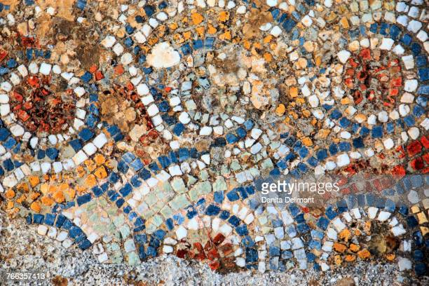 Mosaic floors, Ancient city Ephesus, ancient world center of travel and commerce on Aegean Sea at mouth of Cayster River, Selcuk, Izmir Province, Turkey