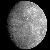 Mosaic of the planet Mercury as seen from the MESSENGER spacecraft on the mission's first flyby of the planet.