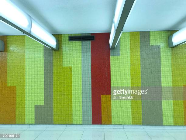 LAX mosaic tile tunnel wall at the Los Angeles International Airport in Los Angeles California on May 30 2017