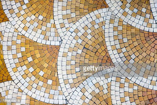 Mosaic tiles in old house