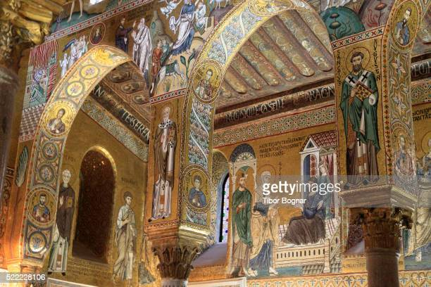 Mosaics in Capella Palatina in Palermo, Sicily