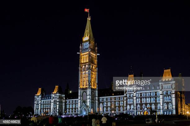 Mosaika Lights on the Parliament of Canada