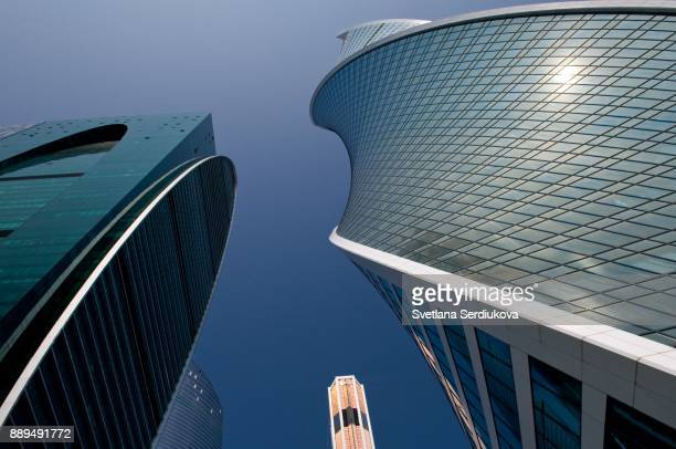 """Moscow International Business Center """"Moscow City"""". Imperia Tower and Evolution Tower."""