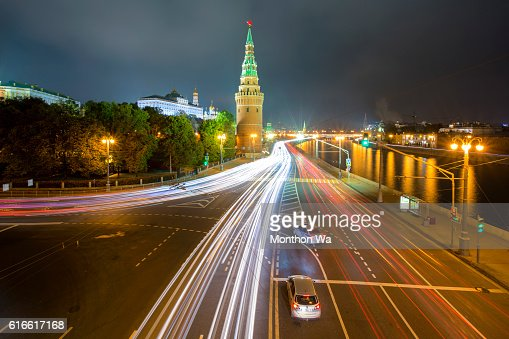 Moscow Kremlin at night : Stock Photo