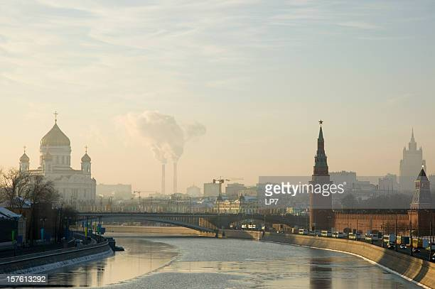 Moscow Kremlin Russia sunset view