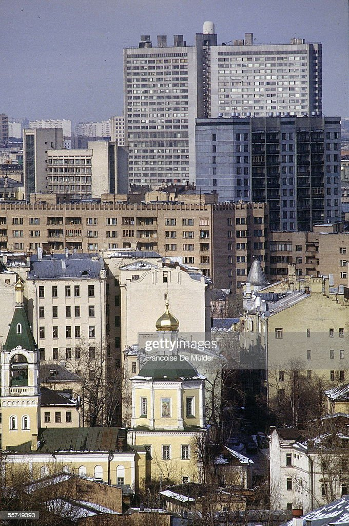 Moscow (Russia). Panorama, March 1992.