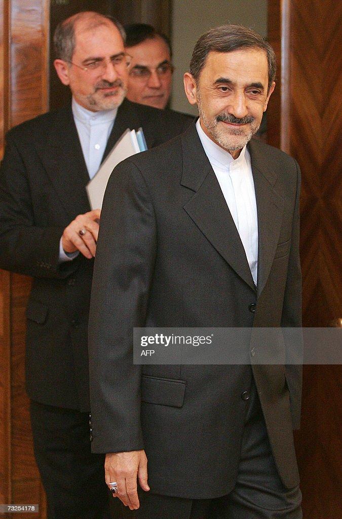 An envoy of Iran's supreme leader Ayatollah Ali Khamenei Ali Akbar Velayati arrives 08 February 2007 for meeting with Russian Foreign Minister Sergei...