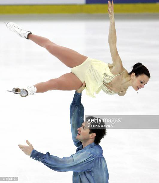Russians Maria Petrova and Alexei Tikhonov perform their pairs free program at the ISU Grand Prix of figure skating Cup of Russia in Moscow 25...