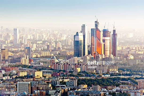 Moscow skyline. Aerial view