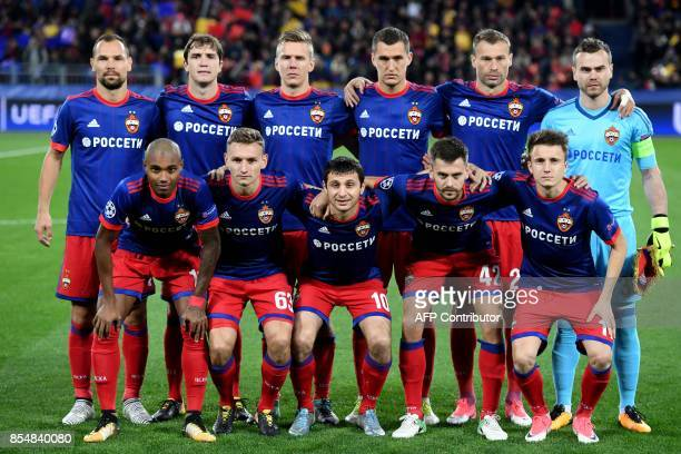 CSKA Moscow's defender from Russia Sergey Ignashevich CSKA Moscow's defender from Russia Mario Fernandes CSKA Moscow's midfielder from Sweden Pontus...