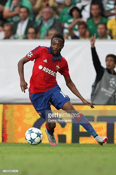 Moscow's forward Ahmed Musa during the match between Sporting CP and CSKA Moscow for UEFA Champions League Qualifying Round Play Off First Leg on...