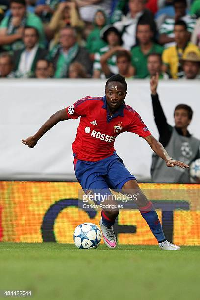 Moscow's forward Ahmed Musa during the UEFA Champions League qualifying round playoff first leg match between Sporting CP and CSKA Moscow at Estadio...