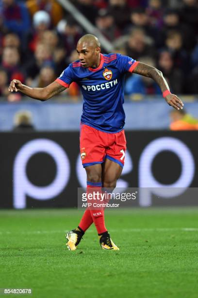 Moscow's forward from Brazil Vitinho during the UEFA Champions League Group A football match between PFC CSKA Moscow and Manchester United FC in...