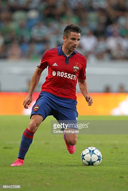 Moscow's midfielder Zoran Tosic during the UEFA Champions League qualifying round playoff first leg match between Sporting CP and CSKA Moscow at...