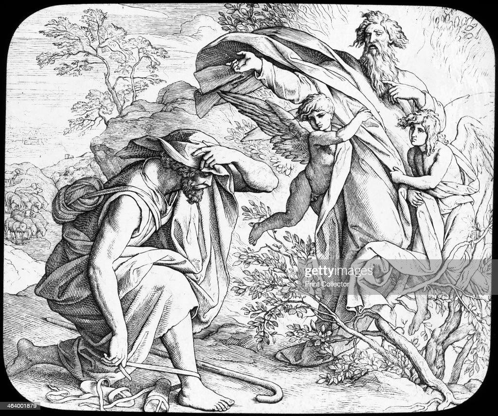 moses and the burning bush 19th century artist julius schnorr