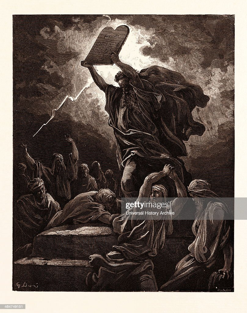 moses breaking the tables of the law pictures getty images