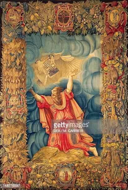 Moses by Gian Cristoforo Romano tapestry Milan Museo Del Duomo Di Milano
