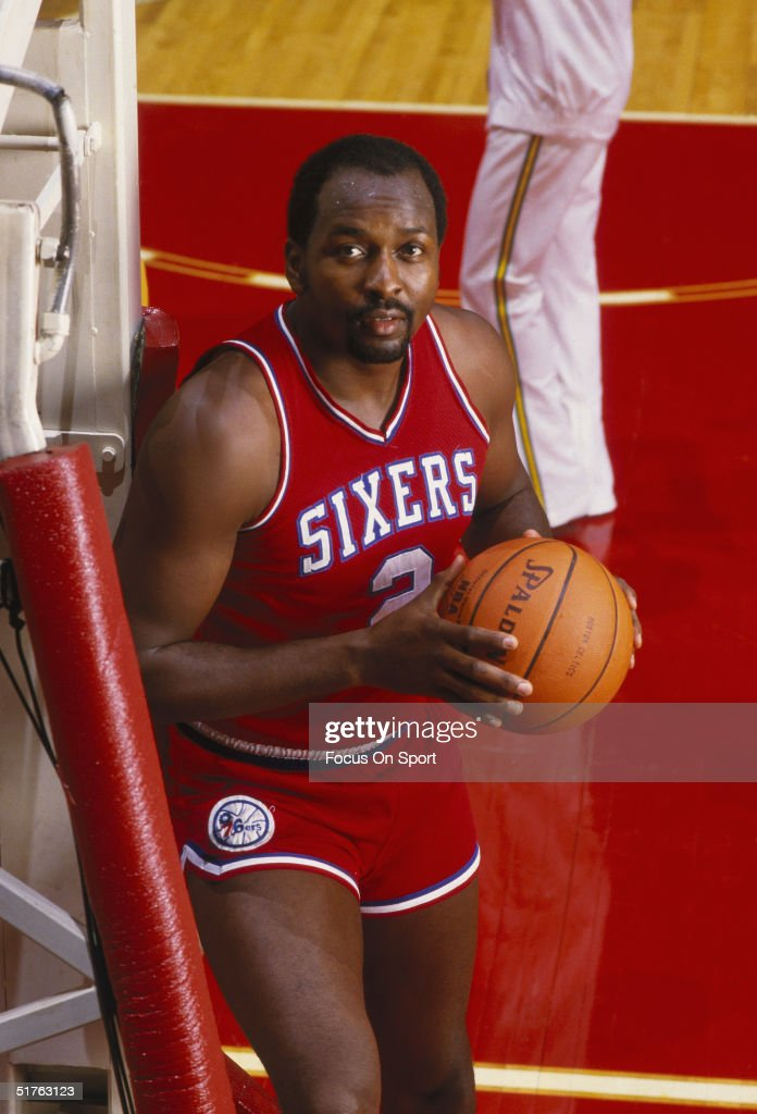 <a gi-track='captionPersonalityLinkClicked' href=/galleries/search?phrase=Moses+Malone&family=editorial&specificpeople=213188 ng-click='$event.stopPropagation()'>Moses Malone</a> #2 of the Philadelphia 76ers poses for the camera during the 1985 NBA season.