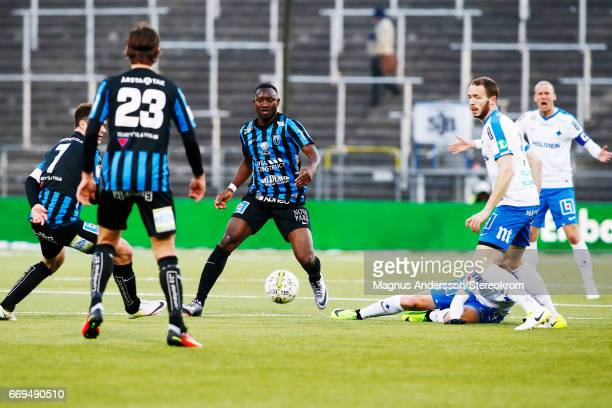 Moses Ogbu during the Allsvenskan match between IFK Norrkoping and IF Sirius FK at Ostgotaporten on April 17 2017 in Norrkoping Sweden