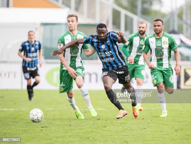 Moses Ogbu of IK Sirius FK during the Allsvenskan match between IK Sirius FK and Hammarby IF at Studenternas IP on May 21 2017 in Uppsala Sweden