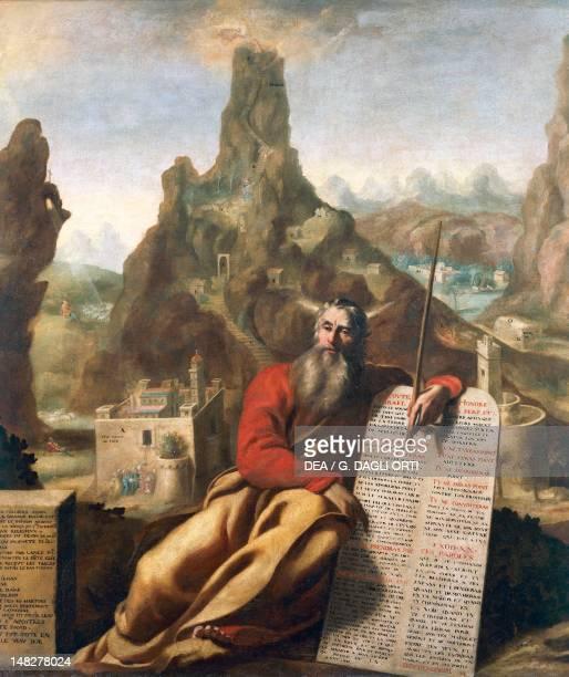 Moses on Mount Sinai ca 1655 by Jacques de Letin oil on canvas 210x232 cm Troyes Musée Des BeauxArts Et D'Archéologie