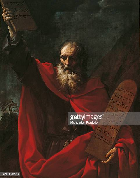 Moses with the Tables of the Law by Guido Reni 1600 1610 17th Century oil on canvas