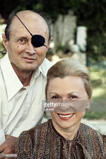 Moshe Dayan and his wife Rachel Jerusalem Israel 3rd April 1978