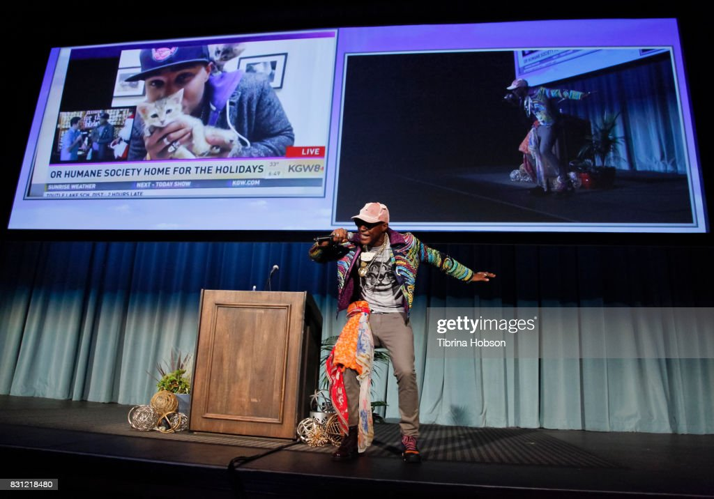 Moshow, The Cat Rapper, attends the 1st Annual CatCon Awards Show at the 3rd Annual CatCon at Pasadena Convention Center on August 13, 2017 in Pasadena, California.