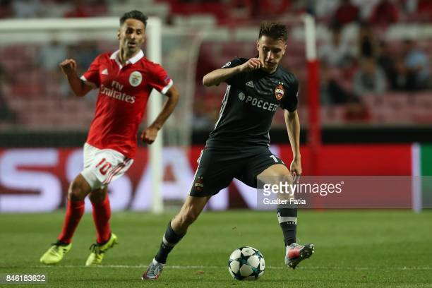 Moskva midfielder Aleksandr Golovin from Russia in action during the UEFA Champions League match between SL Benfica and CSKA Moskva at Estadio da Luz...