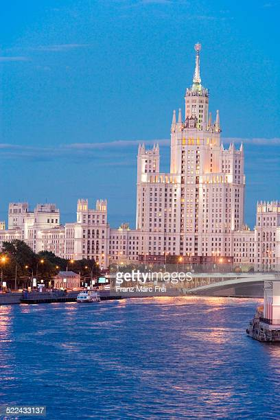 Moskva River and one of Stalins 7 Sisters